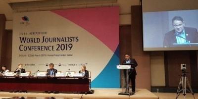 Wartawan Asal Indonesia, Teguh Santosa Menjadi Pembicara Forum WJC di Korsel