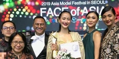 """Ayuma Sabet Gelar """"Face of Asia"""" di Seoul"""