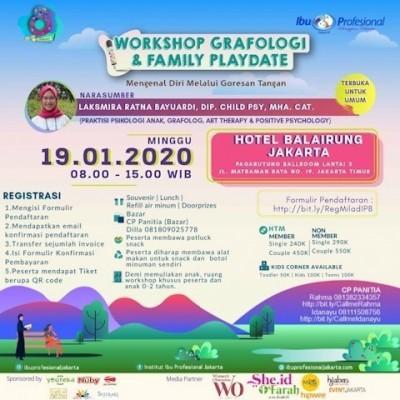 Workshop Grafologi & Family Playdate Ibu Profesional Jakarta menyambut  Milad ke-8 Komunitas Ibu Profesional