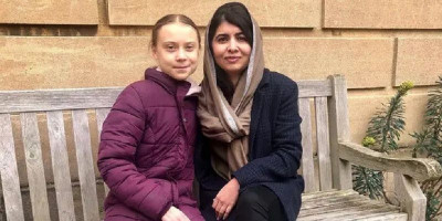 Dua Remaja Paling Berpengaruh Di Dunia, Greta Thunberg Dan Malala Yousafzai Bertemu