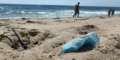 Masalah Baru Di Tengah Pandemi, Masker Dan Sarung Tangan Bekas Kotori Lautan