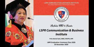 Wisuda Virtual, LSPR Luluskan 857 Wisudawan