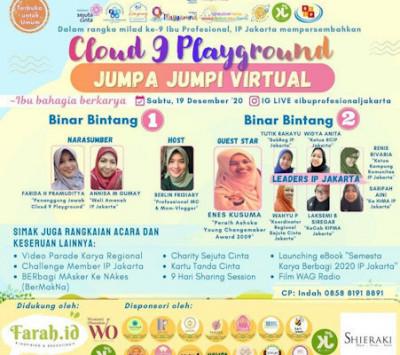 Jumpa Jumpi Virtual Cloud 9 Playground Ibu Profesional Jakarta: Ibu Bahagia Berkarya