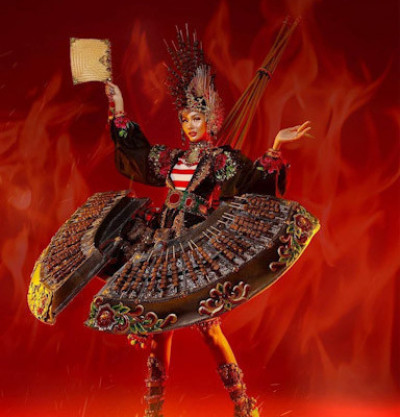 Uniknya The Edacious of Chicken Satay, Kostum Miss Grand Indonesia 2020 Yang Terilhami Sate Madura