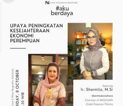 Ketua Umum Induk Koperasi Wanita Pengusaha Indonesia (INKOWAPI) Sharmila Yahya:  Koperasi Wanita Salah Satu Solusi Pemulihan Ekonomi Bangsa di Era New Normal