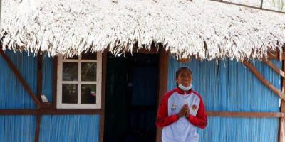 Susanti Ndapataka, Atlit Nasional Peraih Medali Emas Tinggal di Rumah Beratap Daun